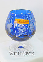 Nachtmann Grape Brandy Snifter cobalt blue