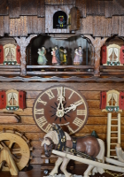 8-Day Music Cuckoo Clock Black Forest Chalet chevron and Horse