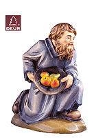 Farm Nativity Shepherd kneeling 3.54inch color