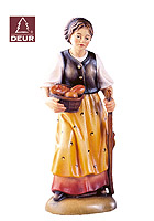 Farm Nativity Shepherdess with Fruits 3.54inch color
