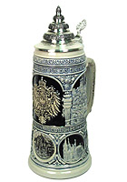 Beerstein Old Germany Stein Neuschwanstein blue 3/4L 10.6inch