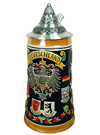 Beerstein Germany, State Crests 9.5 inches
