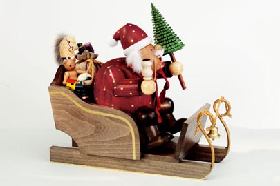 KWO Smoker large Santa on Sleigh, 11.8 inches