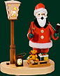 RG Smoker Santa Claus, el. Lantern, 7.9 inches