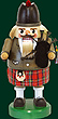 RG Nutcracker Bagpiper, 8.3 inches