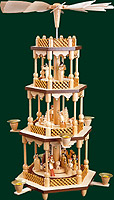 RG Pyramid 3-tier Nativity, 21 inches