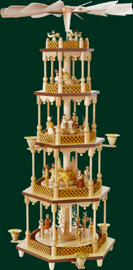 RG Pyramid 4-tier Nativity, 27 inches