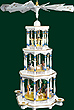 RG Pyramid 3-tier Nativity white, 30 inches