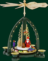 RG Pyramid Santa Claus, green, 10 inches