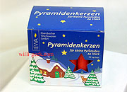 Pyramid Candles small, red