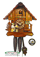1-Day Cuckoo Clock Beerdrinker 7.7 inches