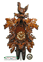 8-Day Carving Cuckoo Clock Grouse, 18.5inch