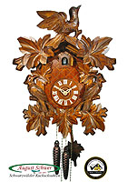 1-Day Carving Cuckoo Clock 3-Birds, 15.4inch
