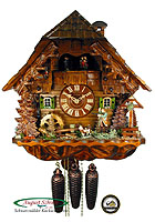 8-Day Cuckoo Clock Chalet The Bird Hunter 16.1 in