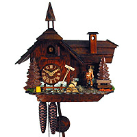 1-Day Cuckoo Clock Farm Cottage, 11inch