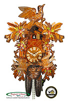 8-Day Carving Cuckoo Clock Birds at Nest 16.1 inch