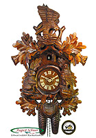 8-Day Carving Cuckoo Clock Eagle's Nest, 18.5inch
