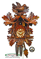 1-Day Cuckoo Clock Squirrel Edelweis, 12.6inch