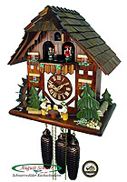 8-Day Cuckoo Clock Chalet Music: The Two Beerdrinkers, 13inch