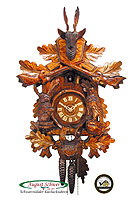 1-Day Cuckoo Clock Carving Hunting Clock 18.1inch
