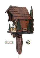 8-Day Cuckoo Clock: Christmas Trees, moved Woodchopper, 10.8inch