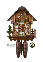 8-Day Cuckoo Clock Timberframe Chalet, Clock-Seller, 11.4 inch