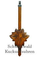 Cuckoo Clock Pendulum Maple Leaf 7.28inch