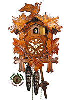 1-Day Cuckoo Clock 5-Leaves 1-Bird, 9.5inch