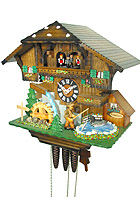 1-Day Music Cuckoo Clock The Fisherman, 13.4inch