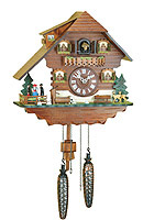 Quartz Cuckoo Clock Turning Dancers, 11.4inch