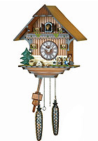 Quartz Cuckoo Clock Oompah Band, 12.6inch
