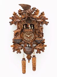 Quartz Carving Cuckoo Clock <br>turning dancers