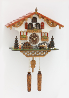 Quartz Cuckoo Clock moving beer drinker/turning water wheel/turning dancers