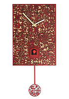 Cuckoo Clock Silhouette red, Quarz-Movement, 11.4inch