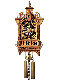 8-Day Cuckoo Clock Baroque Clock Replica ca. 1870 17.7inch