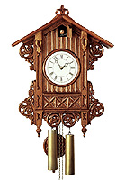 8-Day Cuckoo Clock Replica antique Train Station Clock, 18.1 inch