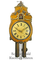 8-Day Cuckoo Clock Replica ca. 1800 with Glass Bell 13.4inch